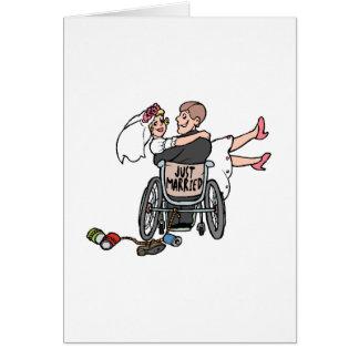 Just Married (Groom Wheelchair) Card