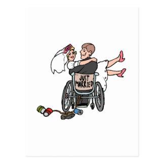 Just Married (Groom Wheelchair) Postcard