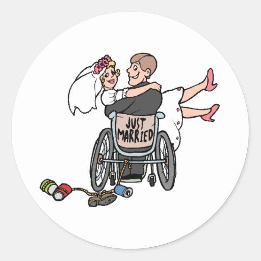 Just Married (Groom Wheelchair) Stickers