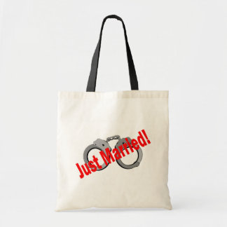 Just Married (Handcuffs) Tote Bag