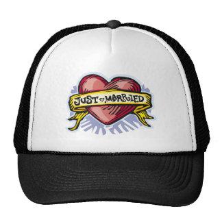 Just Married Trucker Hats