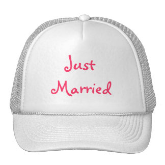 """""""Just married"""" hat"""
