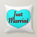 Just Married Heart Pillow