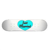 Just Married Heart Skateboard