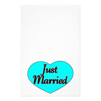 Just Married Heart Stationery