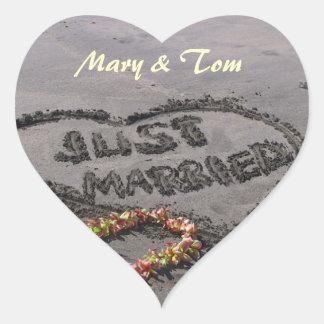 Just married heart sticker