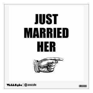 Just Married Her Wall Sticker
