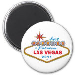 Just Married In Fabulous Las Vegas 2011 Magnet