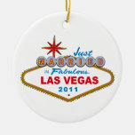 Just Married In Fabulous Las Vegas 2011 Christmas Tree Ornament