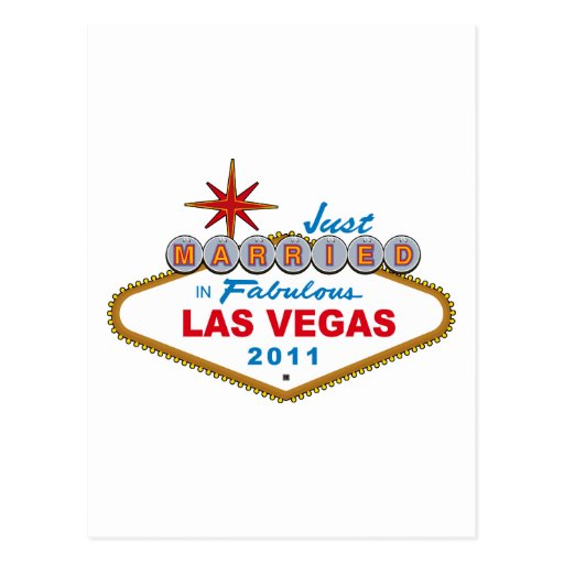 Just Married In Fabulous Las Vegas 2011 Post Card