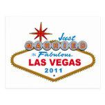 Just Married In Fabulous Las Vegas 2011 Postcards
