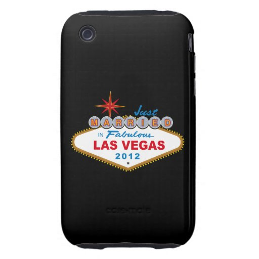 Just Married In Fabulous Las Vegas 2012 Vegas Sign iPhone 3 Tough Covers