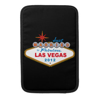 Just Married In Fabulous Las Vegas 2012 Vegas Sign MacBook Air Sleeve