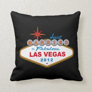 Just Married In Fabulous Las Vegas 2012 Vegas Sign Pillow