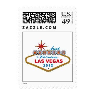 Just Married In Fabulous Las Vegas 2012 Vegas Sign Stamp