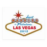 Just Married In Fabulous Las Vegas 2012 Vegas Sign Postcard