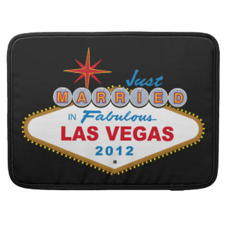 Just Married In Fabulous Las Vegas 2012 Vegas Sign Sleeve For MacBook Pro