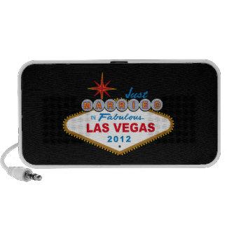 Just Married In Fabulous Las Vegas 2012 Vegas Sign iPod Speakers