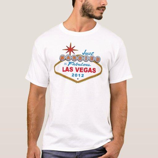 Just Married In Fabulous Las Vegas 2012 Vegas Sign T-Shirt