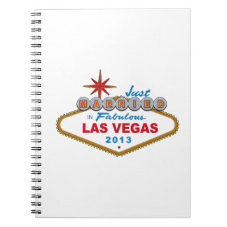 Just Married In Fabulous Las Vegas 2013 (Sign) Note Book