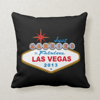 Just Married In Fabulous Las Vegas 2013 (Sign) Throw Pillows