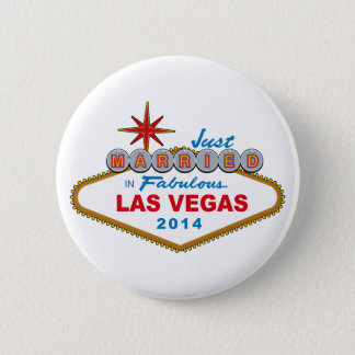 Just Married In Fabulous Las Vegas 2014 (Sign) Button