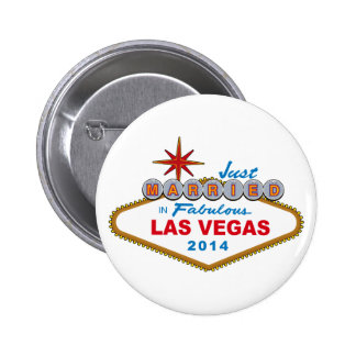 Just Married In Fabulous Las Vegas 2014 (Sign) Buttons