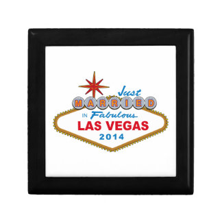 Just Married In Fabulous Las Vegas 2014 (Sign) Jewelry Box
