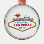 Just Married In Fabulous Las Vegas 2014 (Sign) Christmas Tree Ornament