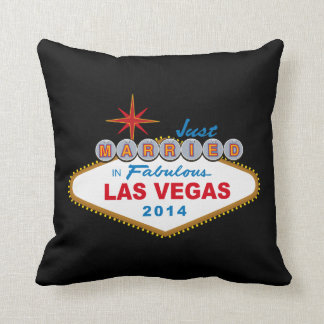 Just Married In Fabulous Las Vegas 2014 (Sign) Pillows