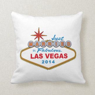 Just Married In Fabulous Las Vegas 2014 (Sign) Pillow