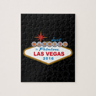 Just Married In Fabulous Las Vegas 2016 (Sign) Puzzle