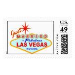 Just Married In Las Vegas Postage Stamp