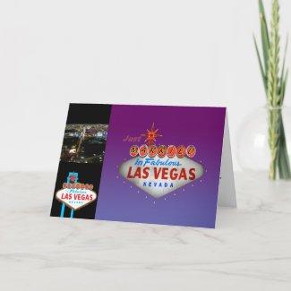 Just Married in Las Vegas Wedding Invitations card