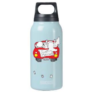 Just Married Insulated Water Bottle