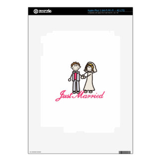 Just Married iPad 3 Decals