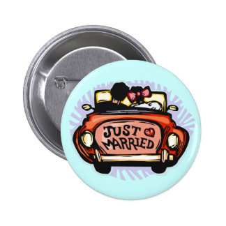 Just Married Jalopy Button