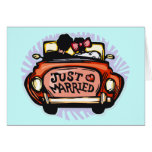 Just Married Jalopy Greeting Card