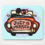 Just Married Jalopy Mousepad