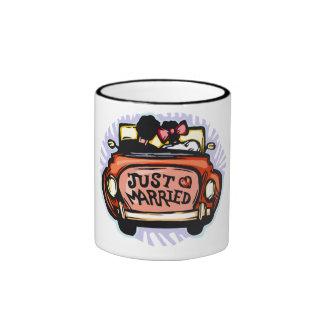Just Married Jalopy Ringer Coffee Mug