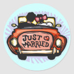Just Married Jalopy Stickers