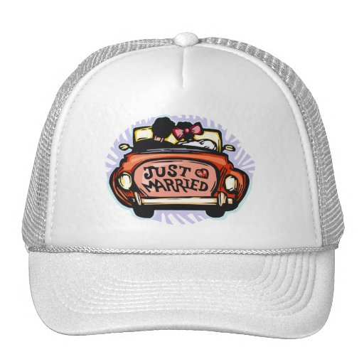 Just Married Jalopy Trucker Hat