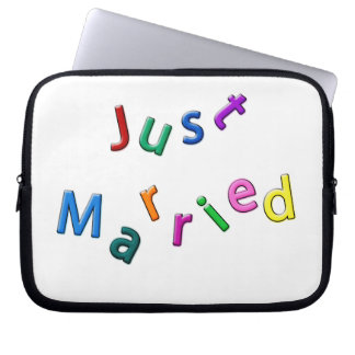 Just Married Jumbled Letters Computer Sleeves