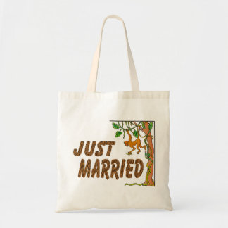 Just Married Jungle Fever Budget Tote Bag