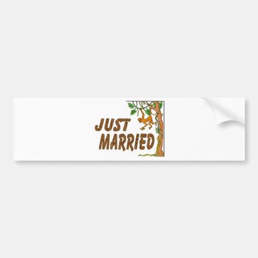 Just Married Jungle Fever Car Bumper Sticker