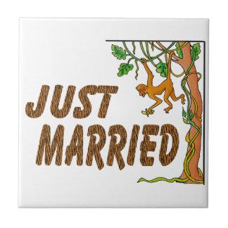 Just Married Jungle Fever Ceramic Tile