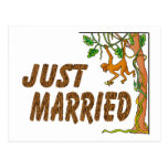 Just Married Jungle Fever Postcard