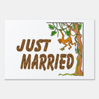 Just Married Jungle Fever Sign