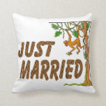 Just Married Jungle Fever Throw Pillow