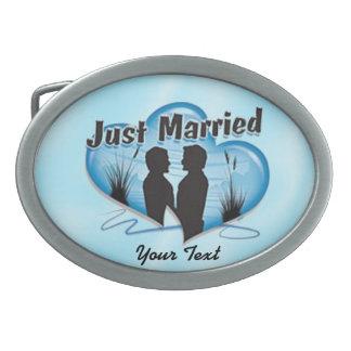 Just Married Keepsake belt buckle